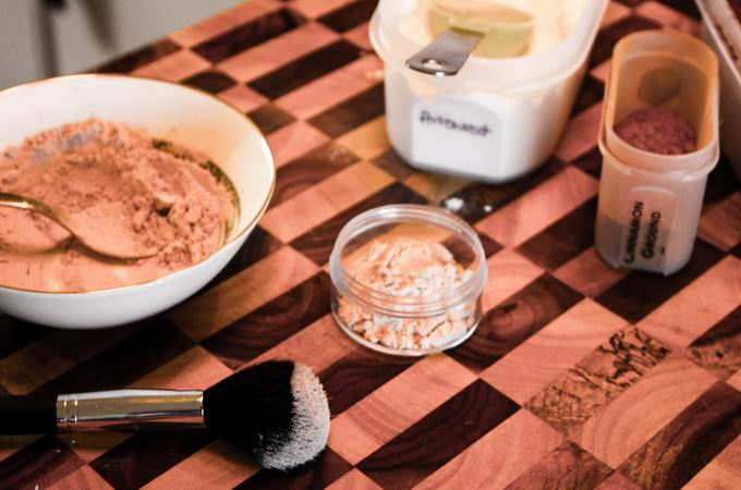 Face powder, according to the type of skin you spell